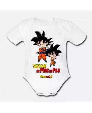 Body Bébé Saiyan de père en...