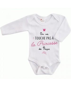 Body Bébé On ne touche pas à la princesse de Papa