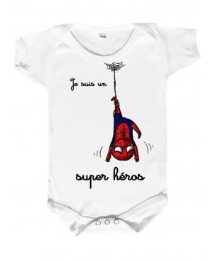 Body Bébé spiderman Je suis...