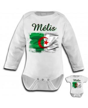Body Bébé Algérie Drapeau...