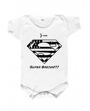 Body bébé je suis super breizh -  les super bébés sont breton