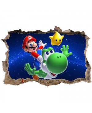 Sticker Mario Galaxy Trompe...