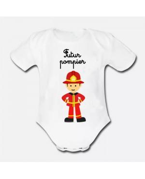 Body Bébé futur pompier